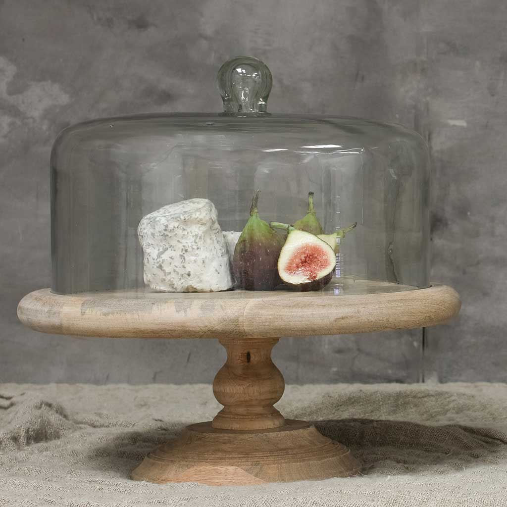 Nkuku Recycled Glass Dome Cake Stand