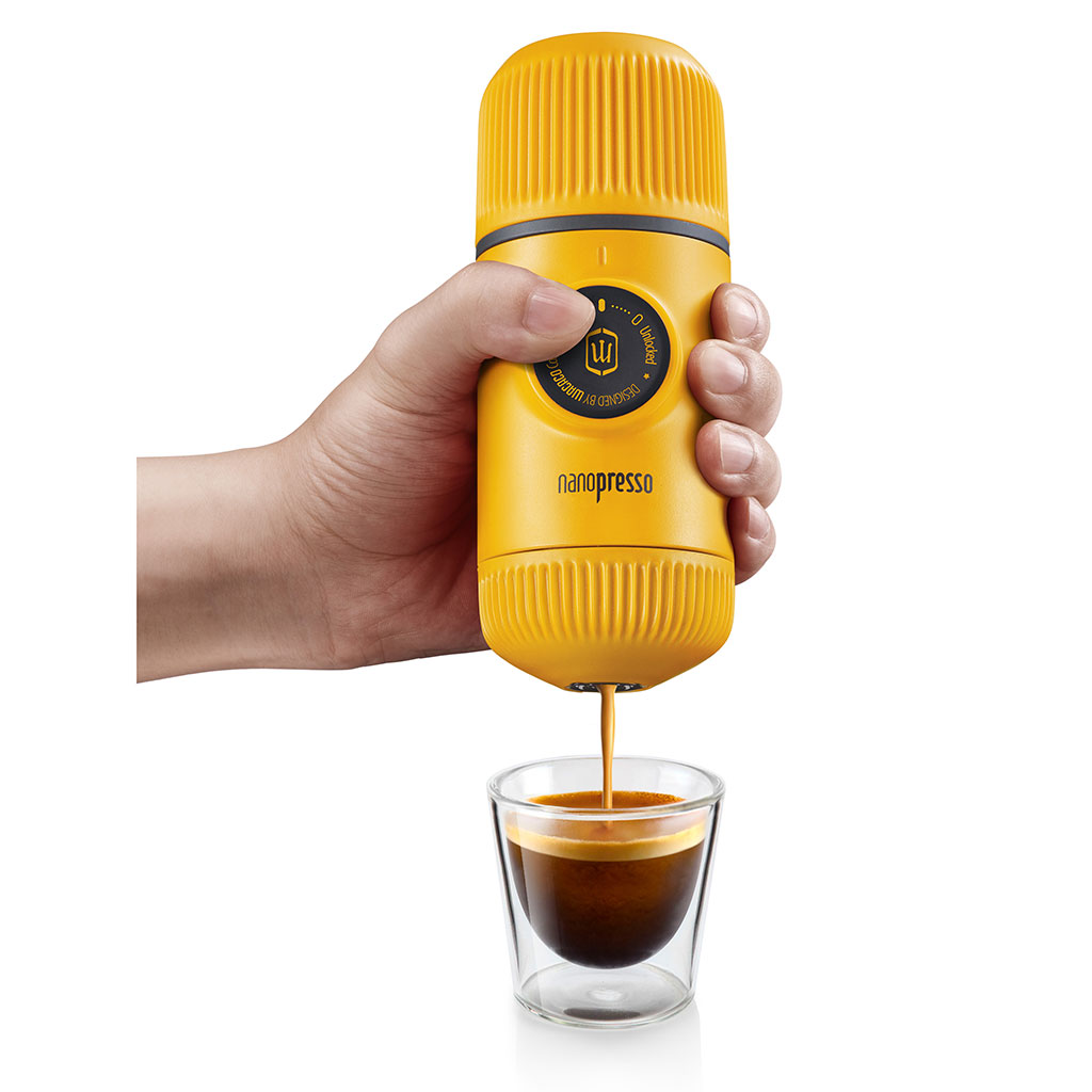 wacaco nanopresso portable coffee machine yellow patrol
