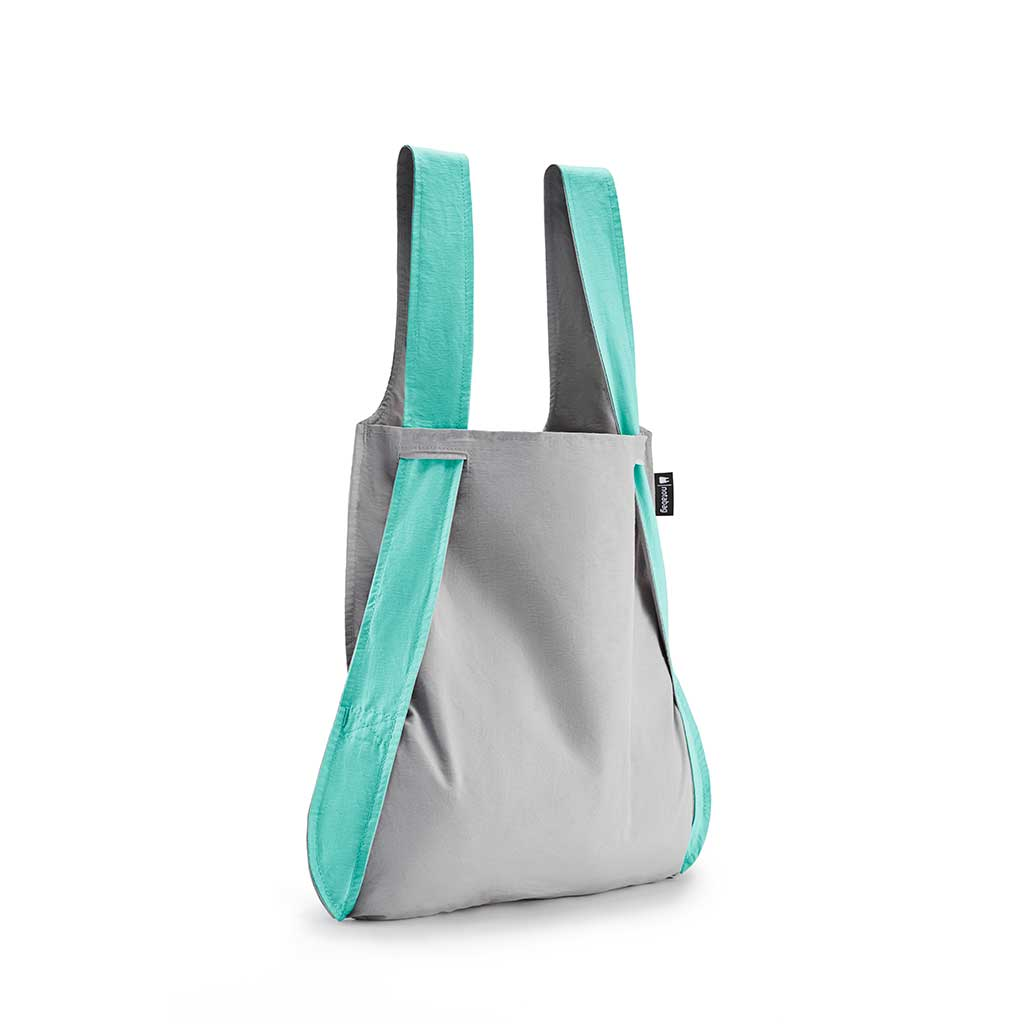 Mint and Grey Notabag