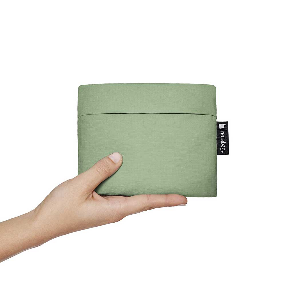 Olive Notabag folds down to a pouch